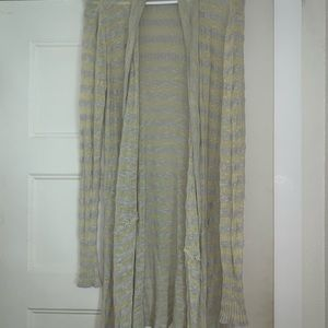 Free People Sweaters - Free People Green Yellow and Grey Sweater